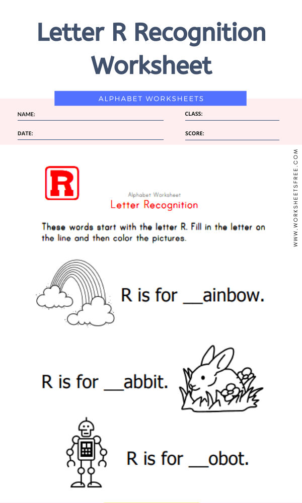 Letter R Recognition Worksheet