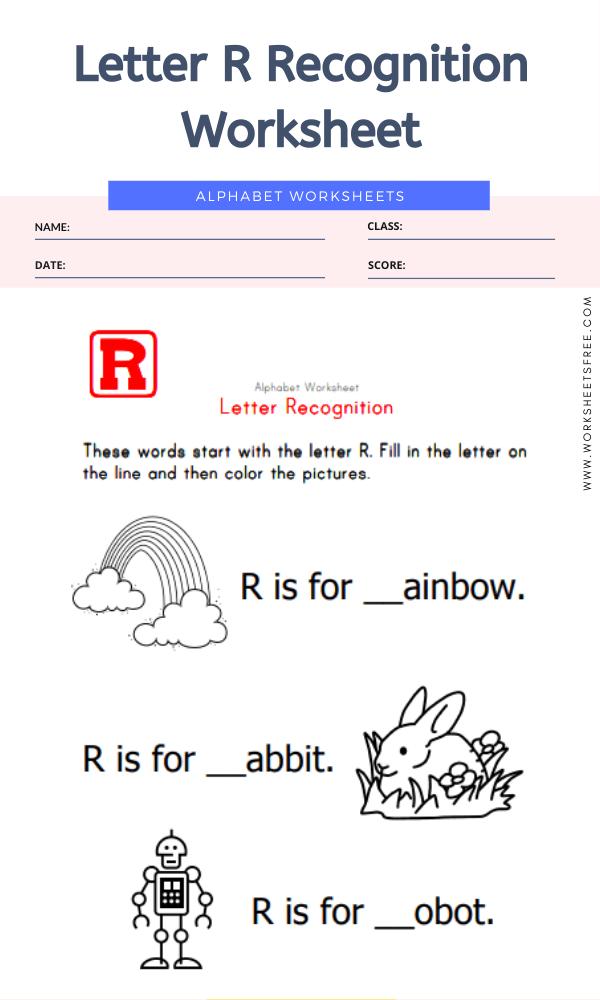 Letter R Recognition Worksheet