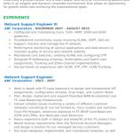 Network Support Engineer Resume Sample 3