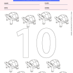 Numbers Coloring Page - number ten coloring page