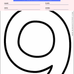 Numbers Coloring Page - numbers 9