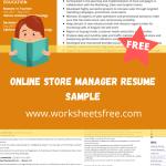 Online Store Manager Resume Sample