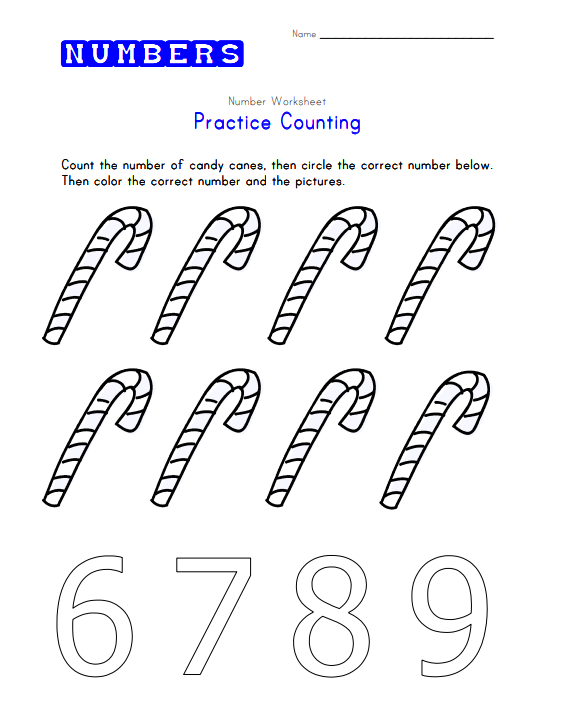 Practice Counting to Eight