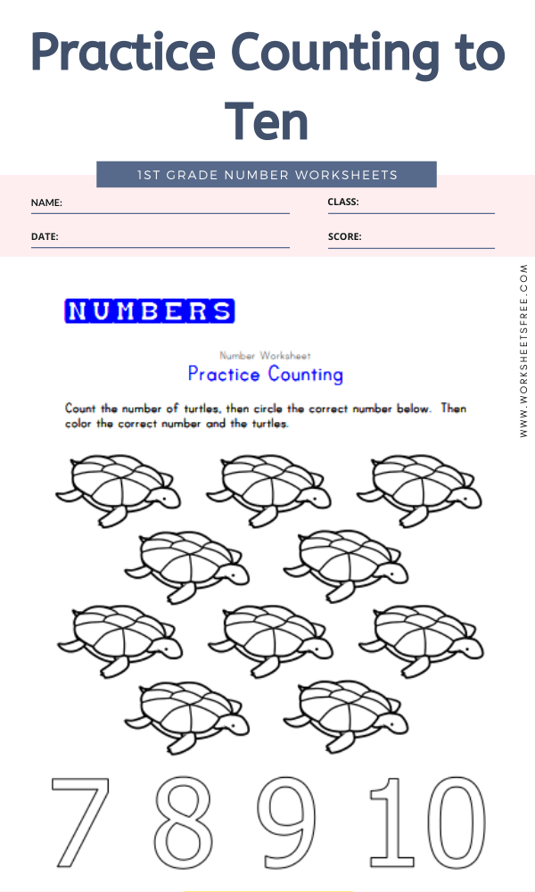 Practice Counting to Ten