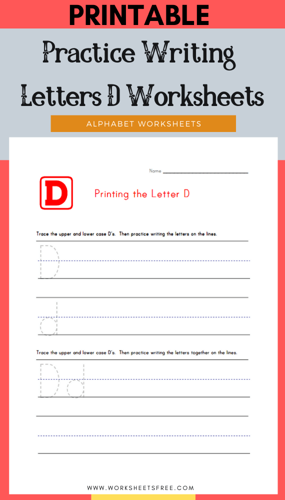 Practice-Writing-Letters-D-Worksheets
