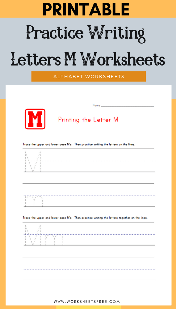 Practice-Writing-Letters-M-Worksheets