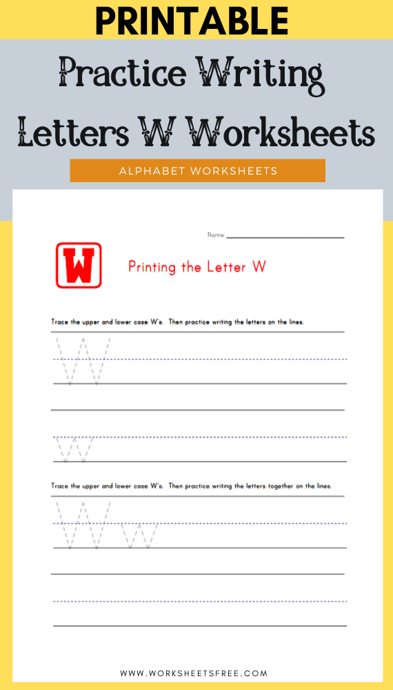 Practice-Writing-Letters-W-Worksheets