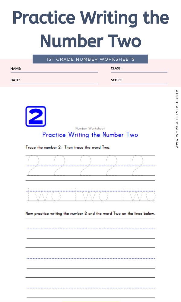 Practice Writing the Number Two