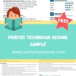 Printer Technician Resume Sample