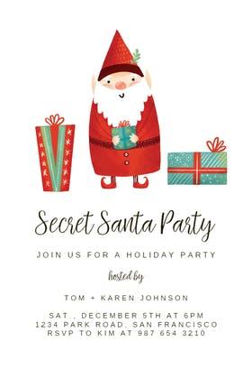 Secret Santa - Christmas Invitation