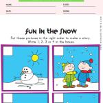 Sequencing Worksheet - Snowman