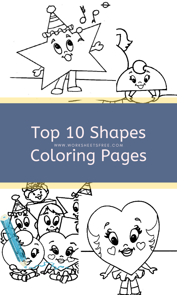 Top 20 Free Printable Shapes Coloring Pages Online | 1000x600