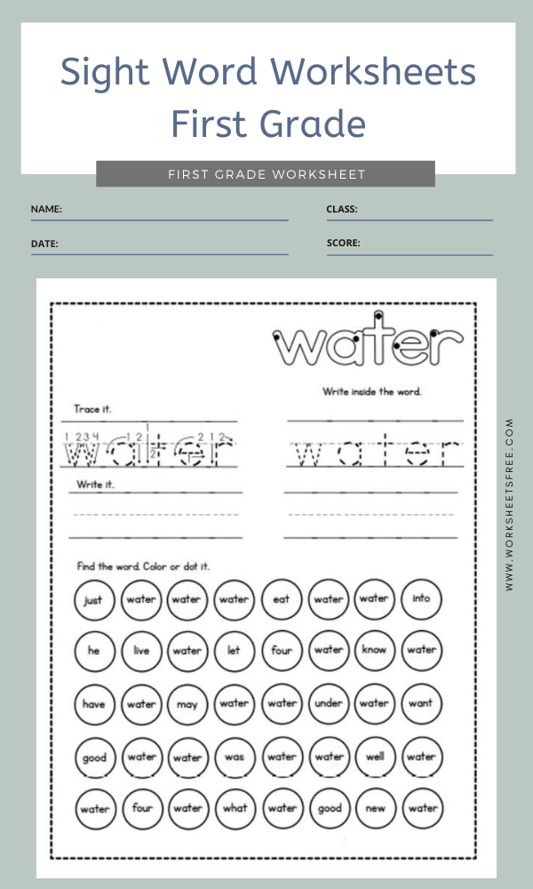 Sight Word Worksheets First Grade 10