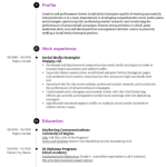 Social Media Strategist Resume Sample 5