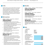Software Engineer Resume Sample 3