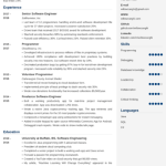 Software Engineer Resume Sample 4