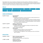 Software Project Manager Resume Sample 5