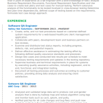 Software Quality Assurance Engineer Resume 5