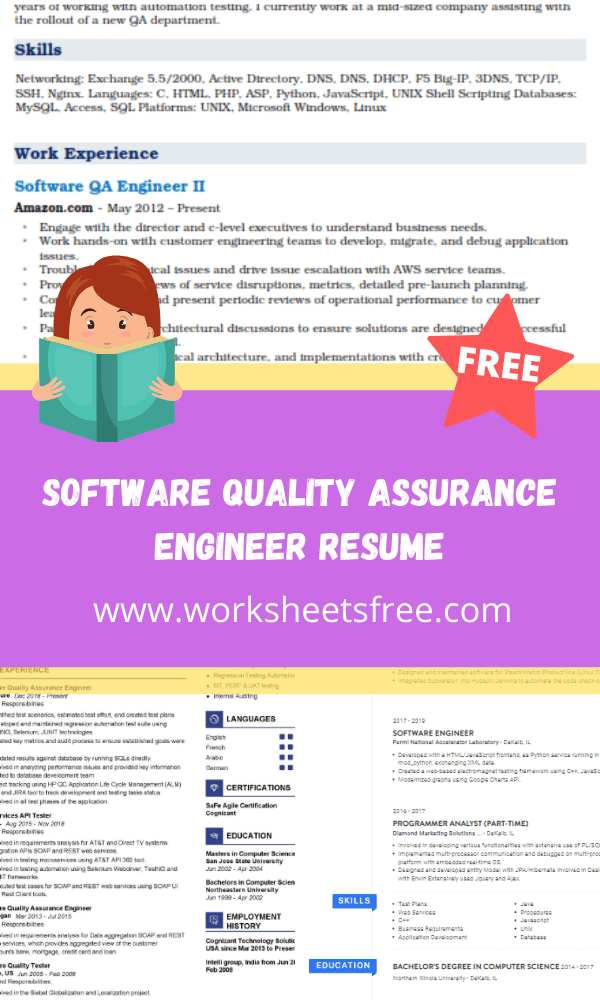 Software Quality Assurance Engineer Resume