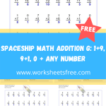 Spaceship Math Addition G