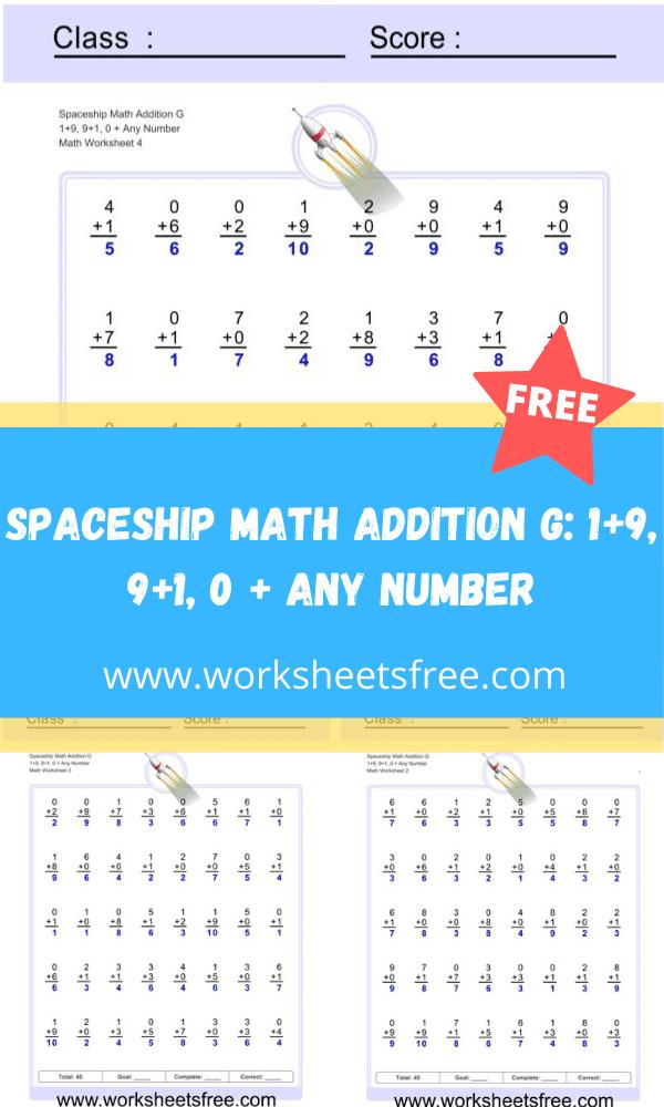 Spaceship Math Addition G