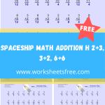 Spaceship Math Addition H