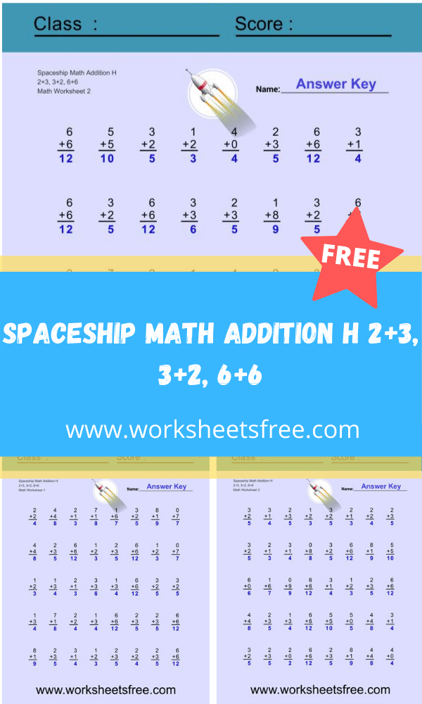 Spaceship Math Addition H
