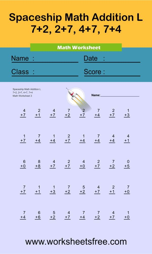 Spaceship Math Addition L 3
