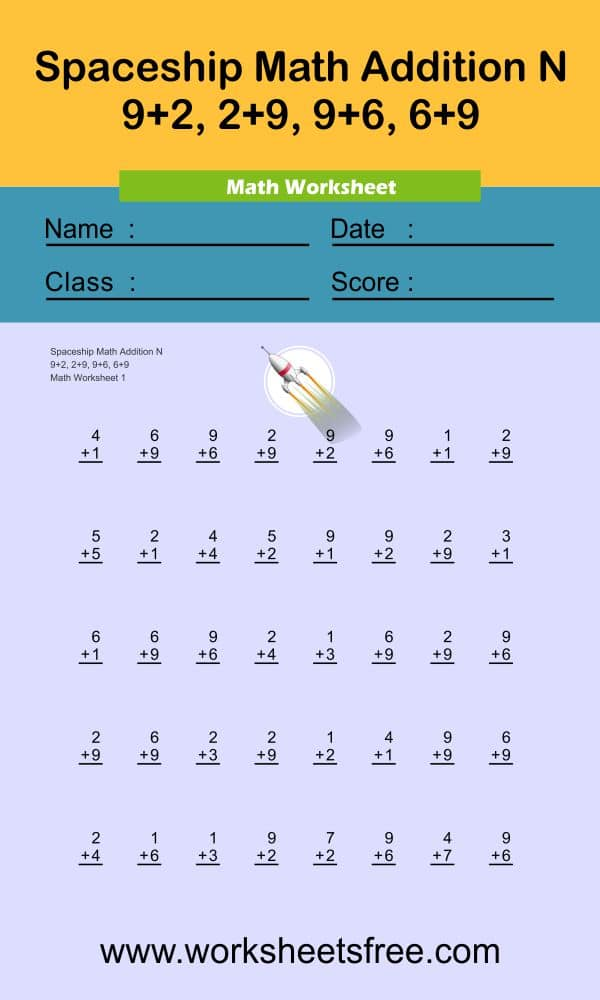 Spaceship Math Addition N 1