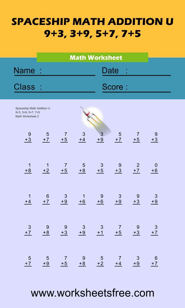Spaceship Math Addition U 2