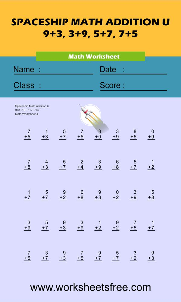 Spaceship Math Addition U 4