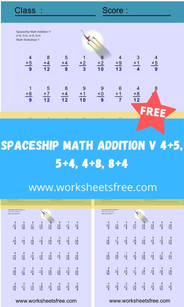 Spaceship Math Addition V