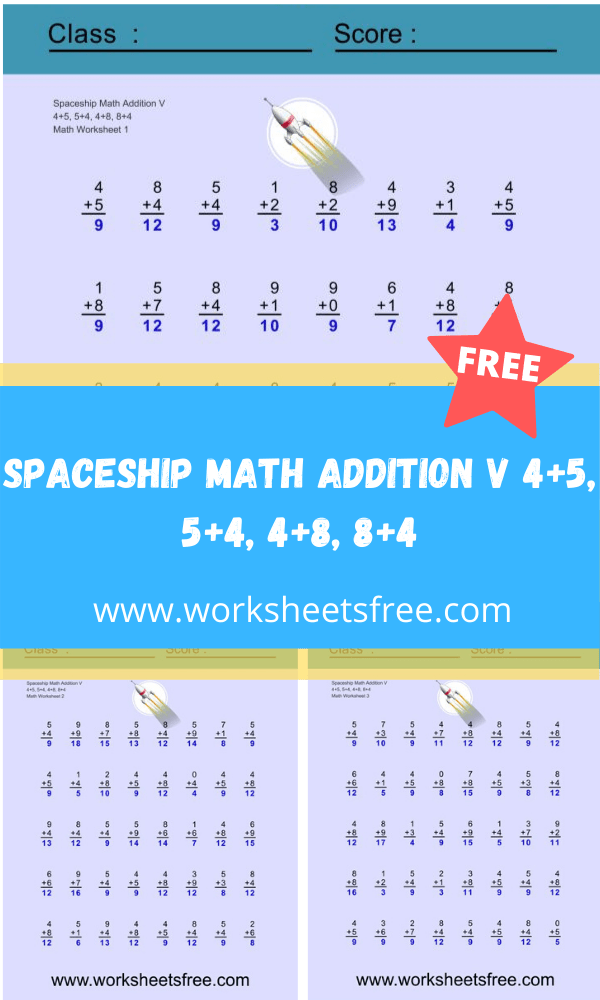 Spaceship Math Addition V