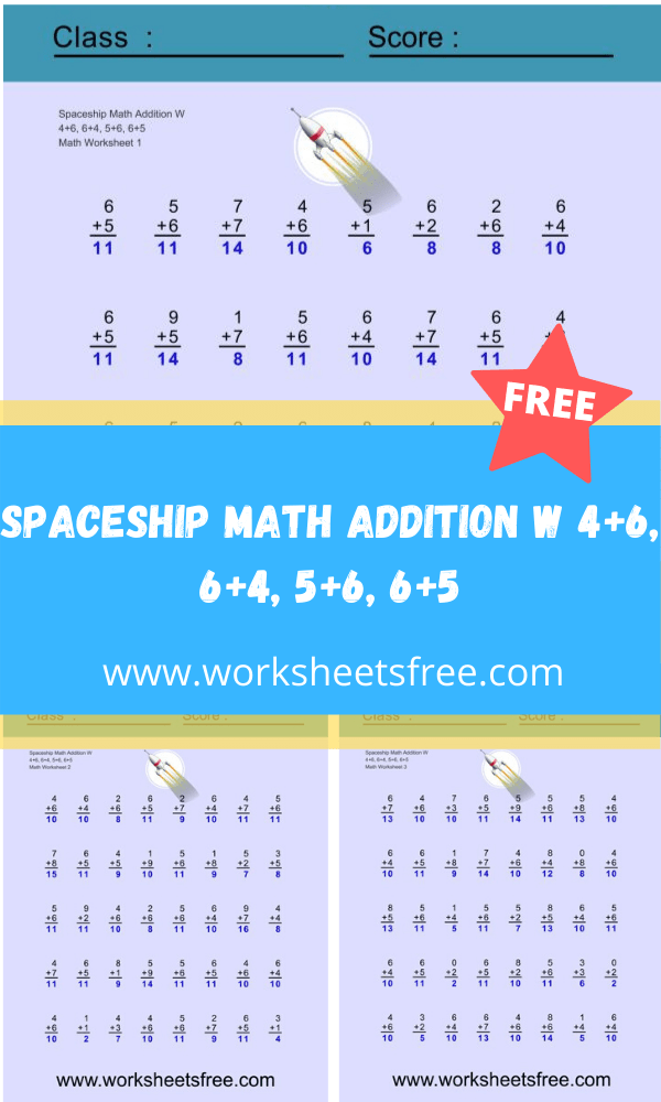 Spaceship Math Addition W