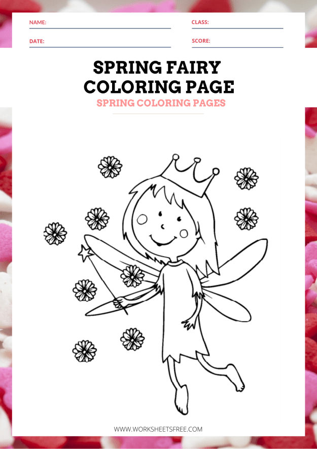 Spring Fairy Coloring Page