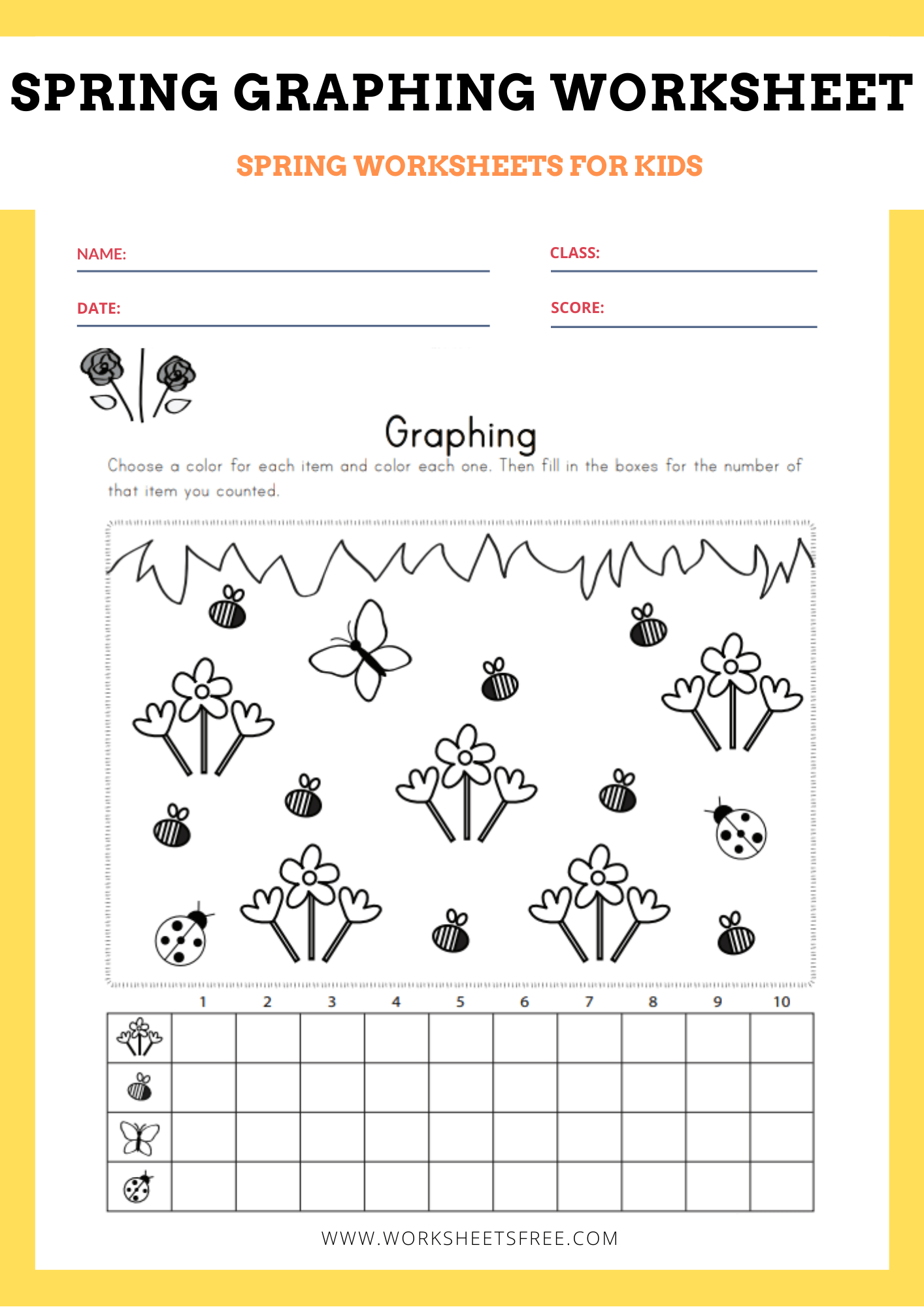 Spring Graphing Worksheet