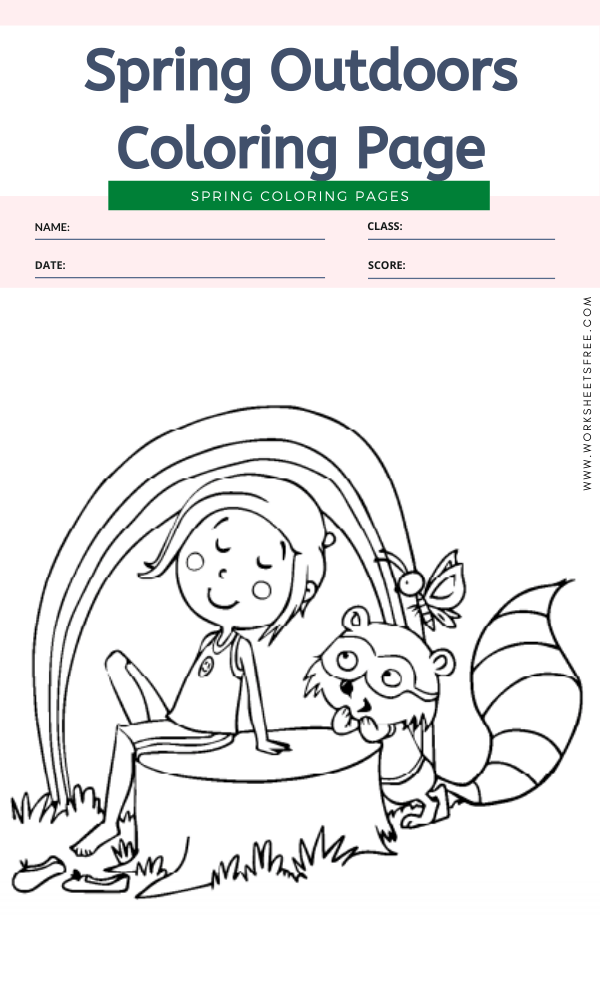 Spring Outdoors Coloring Page