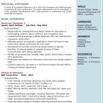 Technical Designer Resume Sample 2