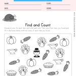Thanksgiving Find and Count Worksheet
