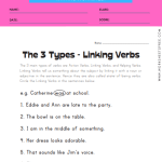 The 3 Types of Verbs - Linking Verbs