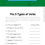 The 3 Types of Verbs Worksheet