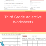 Third Grade Adjective Worksheets
