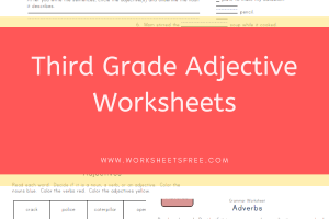Third Grade Adjective Worksheets
