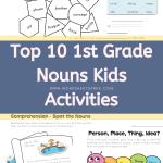 Top 10 1st Grade Nouns Kids Activities - Grammar Worksheets