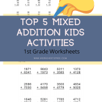 Top 5 Mixed Addition Kids Activities 1st Grade Worksheets