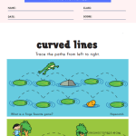 Tracing Curved Lines Pre Writing Worksheet