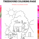 Treehouse Coloring Page
