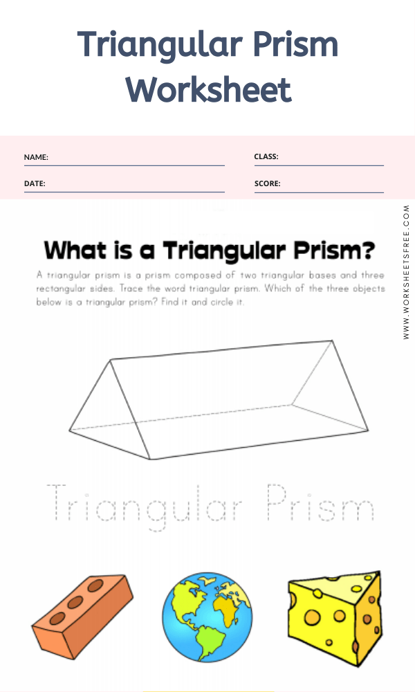 Triangular Prism Worksheet