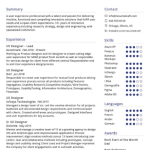 UX Designer Resume Sample 2