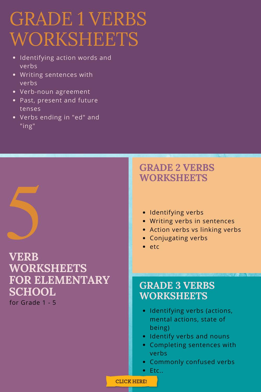 Verb Worksheets For Grade 1 Worksheets Free